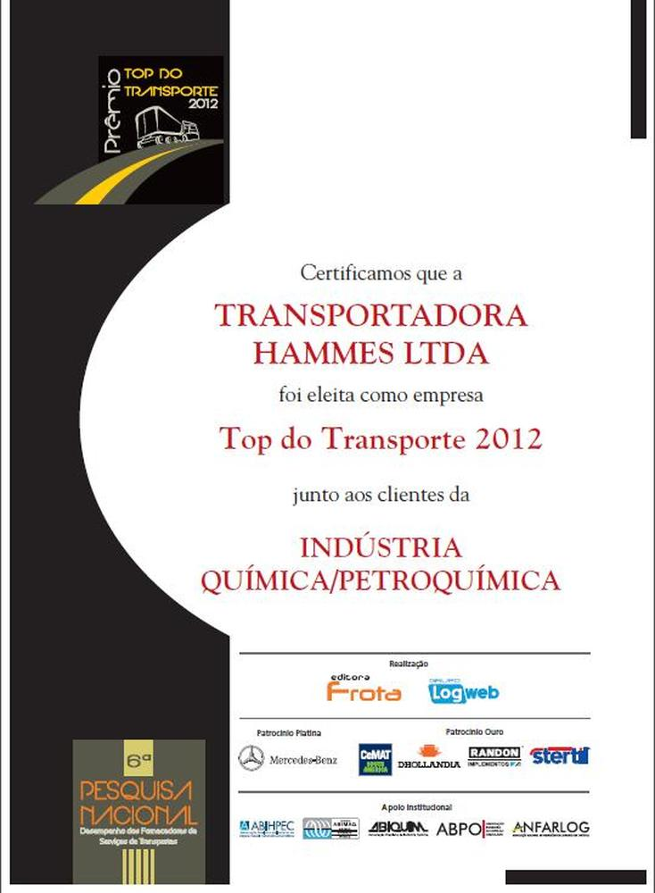 Top do Transporte 2012