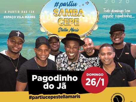 Domingo (26/1) tem Pagodinho do Jã no Samba CEPE