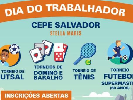 Programação esportiva vai marcar o 1º de Maio no CEPE Salvador Stella Maris