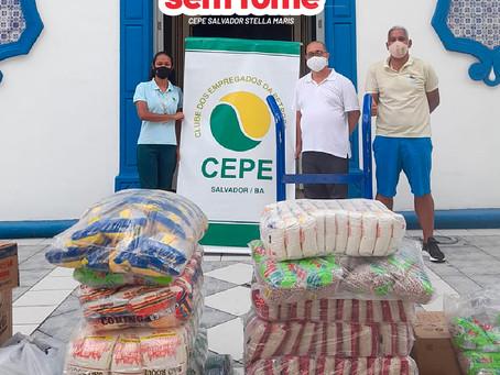Instituições beneficentes receberam hoje  mais de 3 toneladas de alimentos e material de limpeza