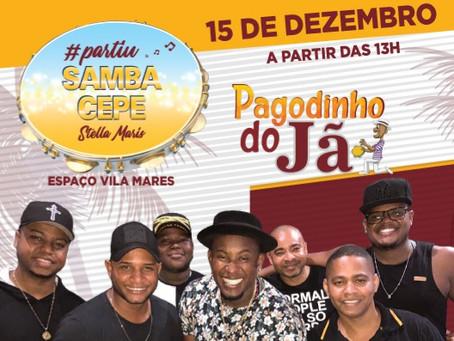 Pagodinho do Jã vai animar o Samba CEPE Stella Maris neste sábado (15/12)