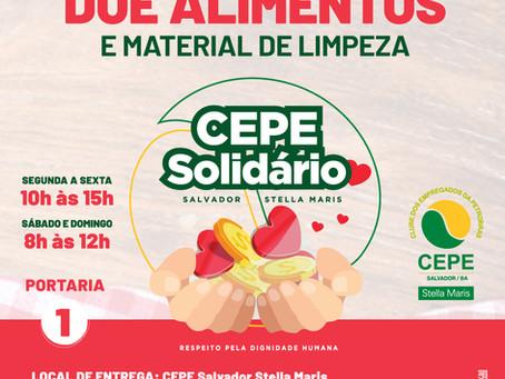 Projeto CEPE Solidário está arrecadando alimentos e material de limpeza