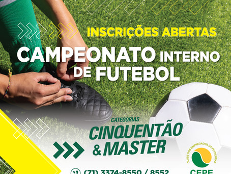 Inscrições abertas para os campeonatos Master e Cinquentão do CEPE-Salvador