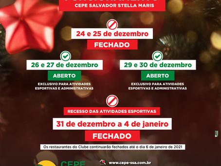Confira os horários de funcionamento do CEPE Stella Maris no fim de ano
