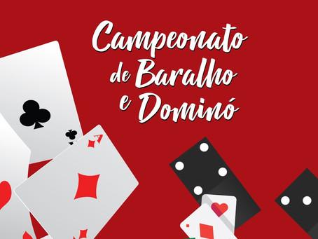 Inscrições abertas para o Campeonato de Baralho e Dominó! Participe!