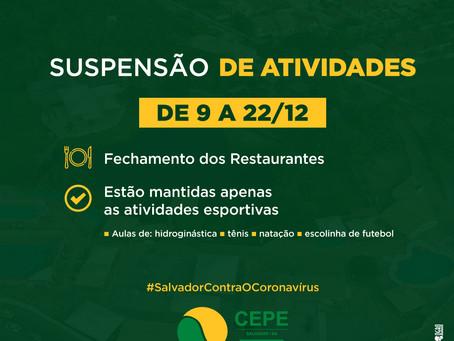 CEPE Stella Maris estará fechado de 9 a 22/12, estão mantidas apenas as atividades esportivas