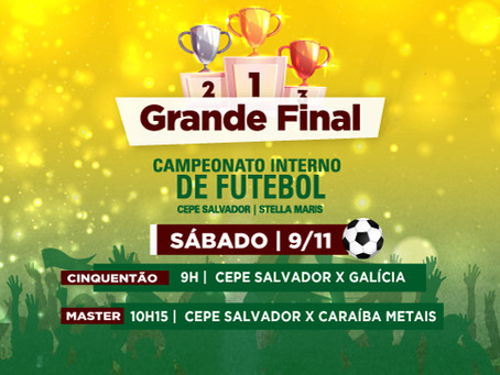 A grande final do Campeonato de Futebol vai acontecer no sábado (9/11), a partir das 9h