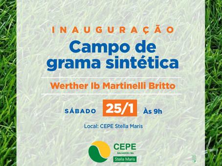 Campo de grama sintética será inaugurado neste sábado (25/1)
