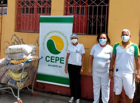 Doados 1.500 quilos de alimentos e material de limpeza para as instituições beneficentes