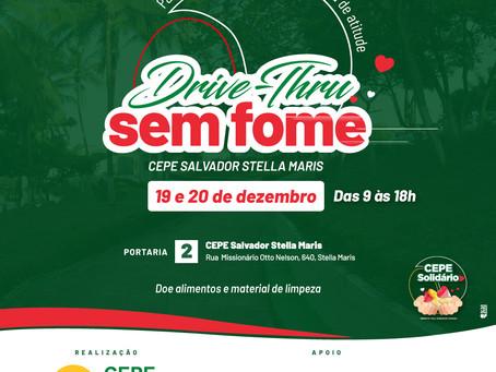 Drive-Thru Sem Fome vai acontecer nos dias 19 e 20 de dezembro