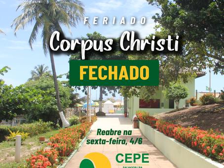 Clube estará fechado no feriado de Corpus Christi, reabrirá na sexta-feira