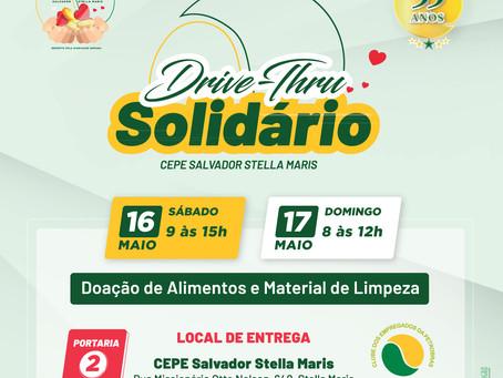 CEPE Stella Maris celebra 33 anos com Drive-Thru Solidário nos dias 16 e 17 de maio