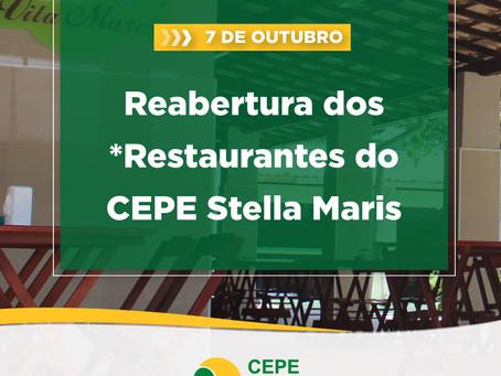 *Restaurantes voltam a funcionar no CEPE Stella Maris a partir de 7/10