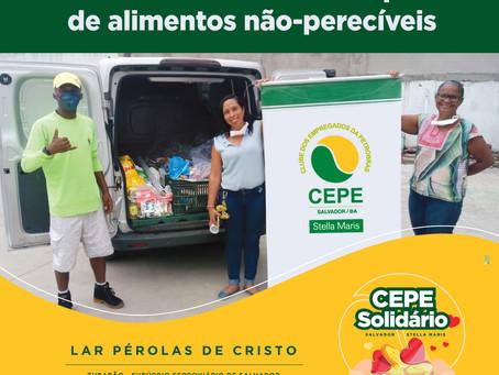 CEPE Solidário doa 500 quilos de alimentos não-perecíveis ao Lar Pérolas de Cristo