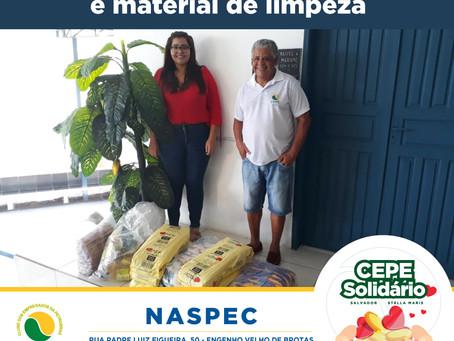 CEPE Solidário doa 400 quilos de alimentos e material de limpeza