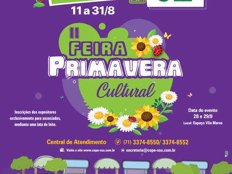 Associados podem se inscrever para II Primavera Cultural do CEPE Salvador Stella Maris