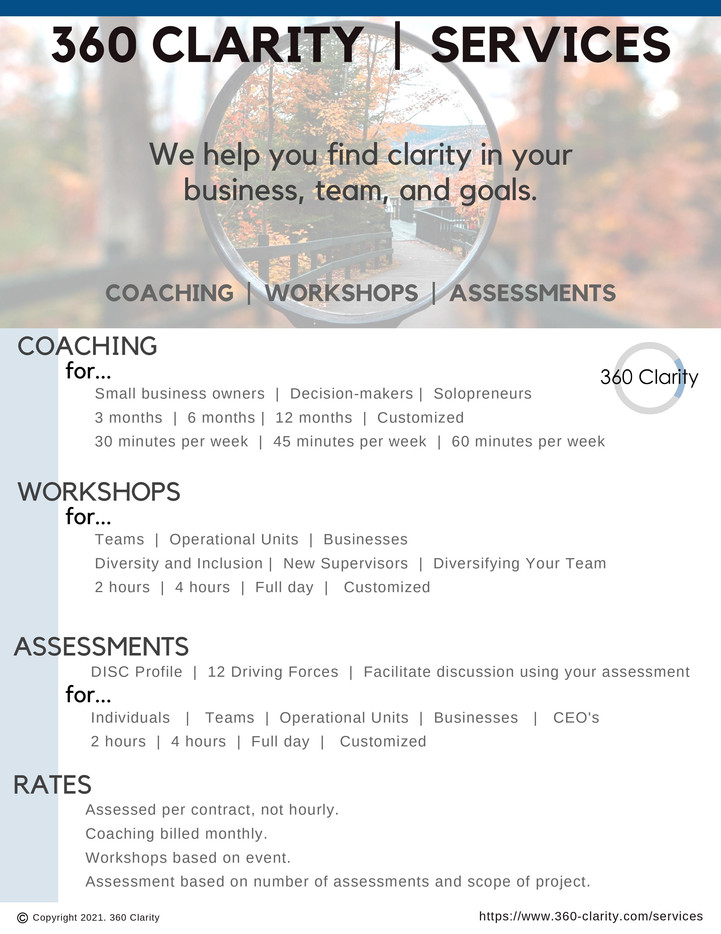 360 Clarity Services Overview