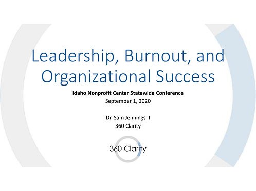 Leadership, Burnout, and Organizational Success