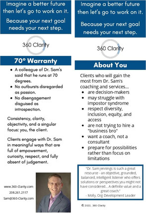 About 360 Clarity Bookmark