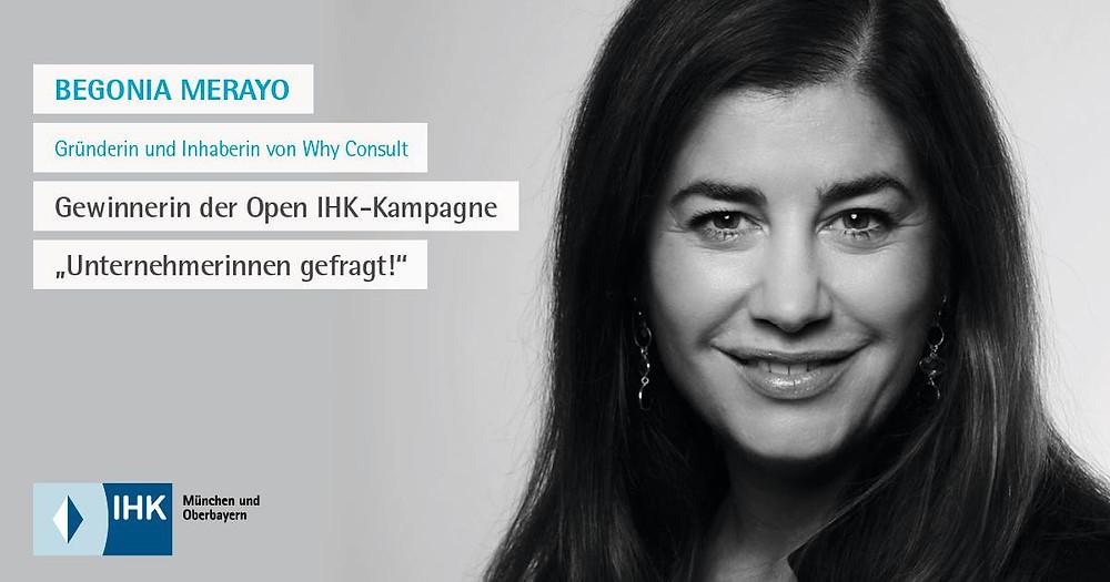 Begonia Merayo, Unternehmerinnen Role der IHK München