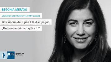 Auszeichnung: Unternehmerin Role Model IHK für München und Oberbayern