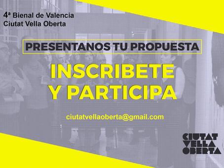 IV BIENNAL DE VALÈNCIA CIUTAT VELLA OBERTA  ▶️Convocatoria 2019  (convocatoria cerrada)