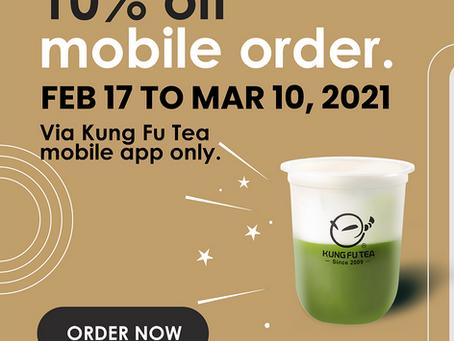 Enjoy 10% off on All Mobile Order!