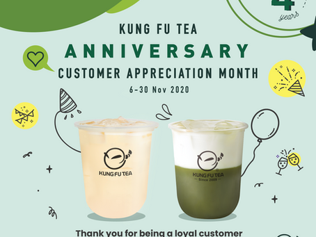 Kung Fu Tea Customer Appreciation Month