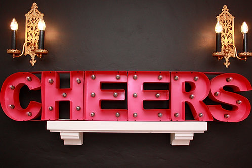 Light-Up Cheers sign