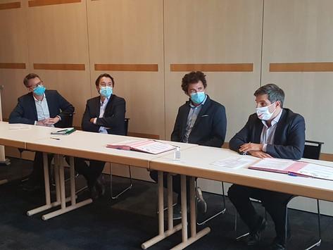 Evénement à la Cité de l'IA : Signature officielle des partenariats avec AG2R LA MONDIALE et PwC