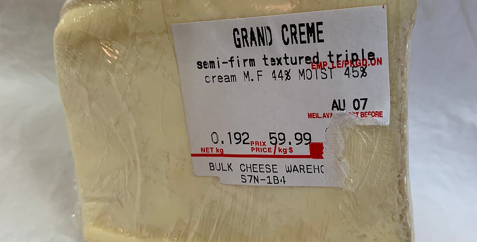 Grand Creme triple textured cheese