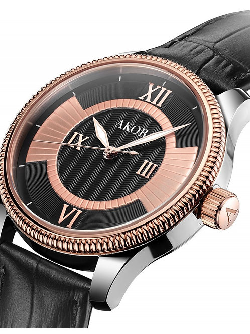 Akor Women's  Gold and Black Swiss Made Watch