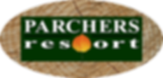 Parchers Resort Wood Grain Logo