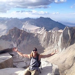 Staffer Seth on top of Mt. Whitney