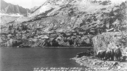 The Bishop Pass Trail at Long Lake