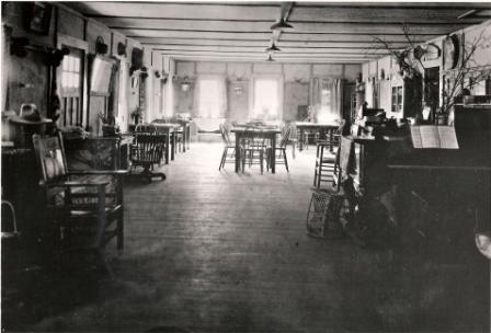 Inside of old lodge