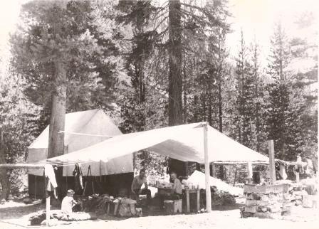 Tent Cabin Closeup