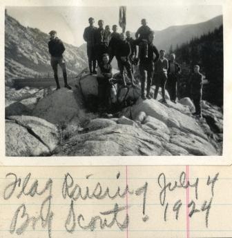 Boy Scouts at South Lake