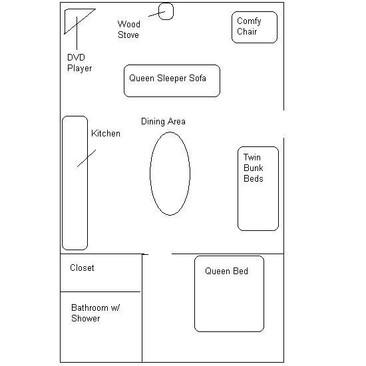 Cabin 30 Floor Plan