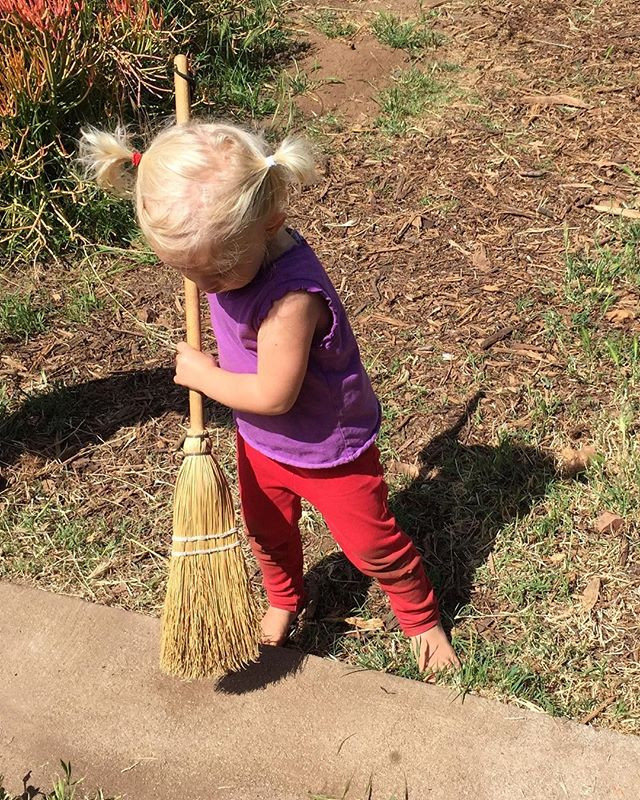#alwayshelping #littlehelper #sweeping #
