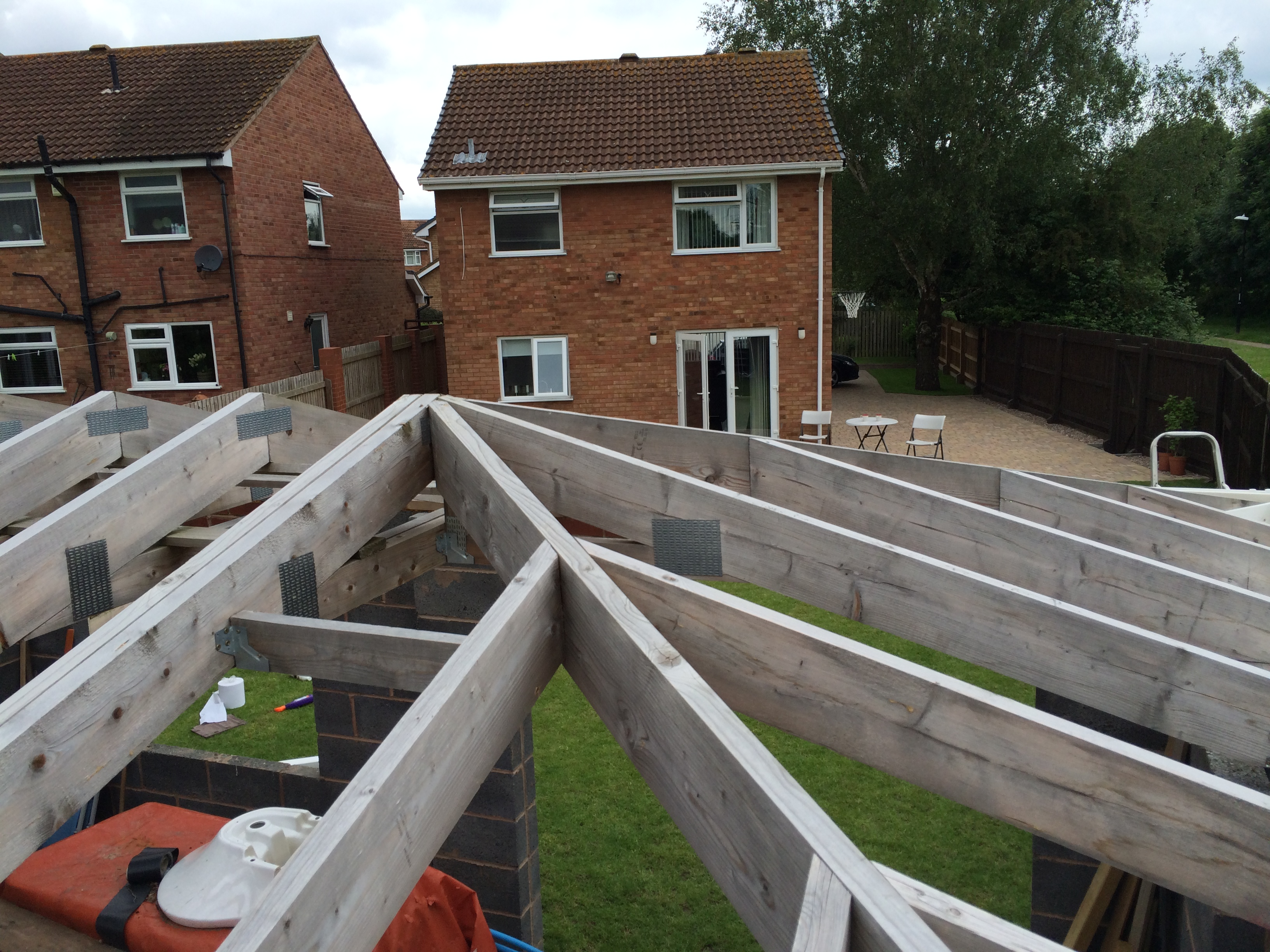 Timber work complete re roof