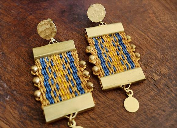 Aros Canelo Brass /Canelo Brass  earrings