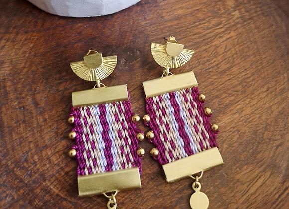 Aros  canelo brass / canelo Brass earrings