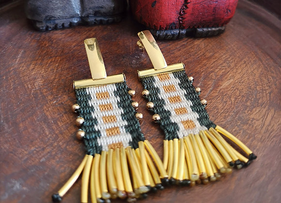 Aros tassel  Dorados / tassel golden earrings