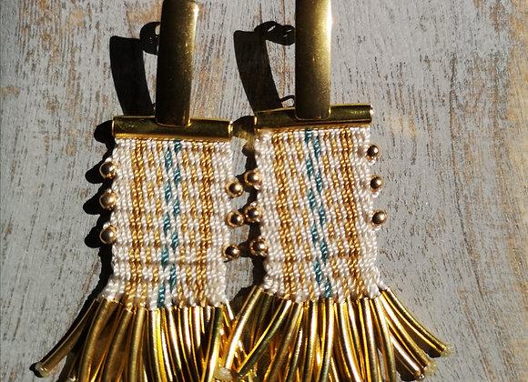 Aros tassel  Dorados / tassel golden earrings