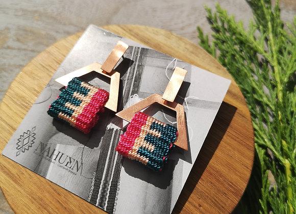 Aros palma  pequeña  /Small palma pequeña earrings