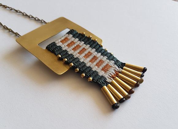 Collar Puyehue dedal verde / Puyehue Dedal verde necklace