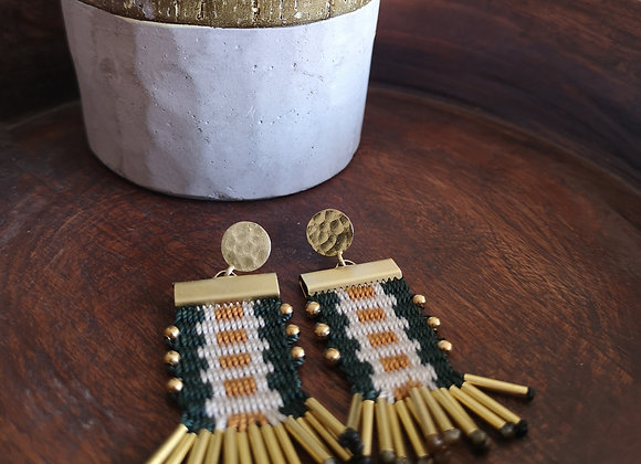 Aros tassel con base / Tassel earrings