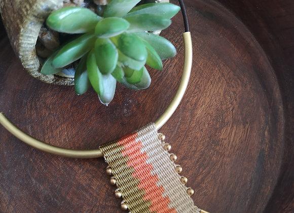 Collar  tassel Bronce /Bronze tassel  necklace