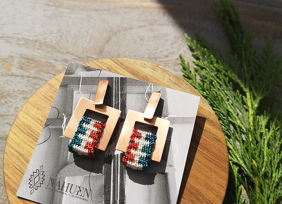 Aros Square cobre / Copper Square earrings